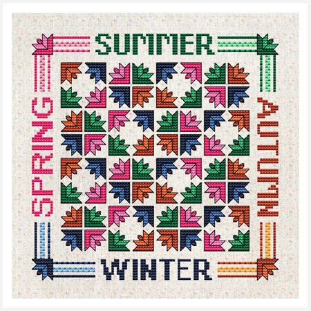 cross stitch pattern Seasons
