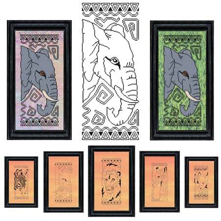 cross stitch pattern African Animal Series - ELEPHANT