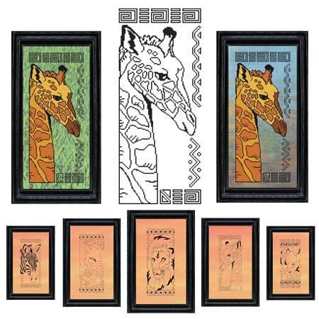 cross stitch pattern African Animal Series - GIRAFFE