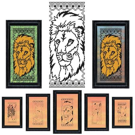 cross stitch pattern African Animal Series - LION