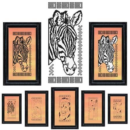 cross stitch pattern African Animal Series - ZEBRA