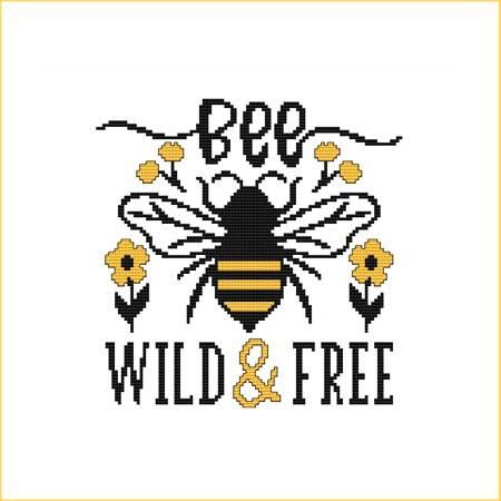cross stitch pattern Bee Wild  Free