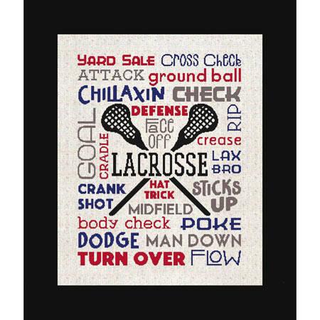 cross stitch pattern Subway Art - Sports - Lacrosse