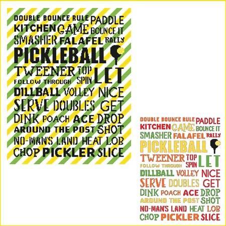 cross stitch pattern Subway Art - Sports - Pickleball