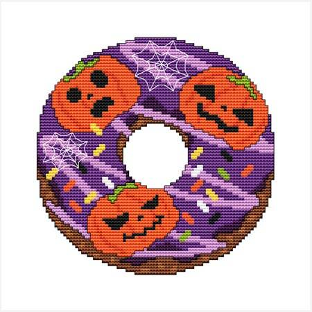 cross stitch pattern A Year Of Donuts - October