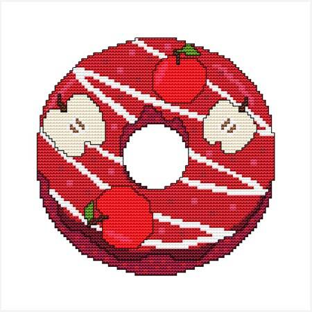 cross stitch pattern A Year Of Donuts - September