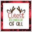 cross stitch pattern Cutest Reindeer Of All