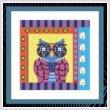 cross stitch pattern Crazy Patch Owl 04