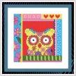 cross stitch pattern Crazy Patch Owl 05