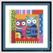 cross stitch pattern Crazy Patch Owl 08