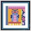 cross stitch pattern Crazy Patch Owl 09