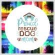 cross stitch pattern Proud Rescue Dog Mom