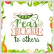 cross stitch pattern Peas Be Kind To Others