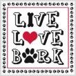 cross stitch pattern Live Love Bark