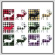 cross stitch pattern Fun With Plaid - Caribou