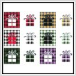 cross stitch pattern Fun With Plaid - Present / Gift