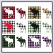 cross stitch pattern Fun With Plaid - Moose