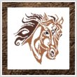 cross stitch pattern Tribal Horse