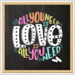 cross stitch pattern All You Need Is Love Is All You Need
