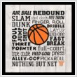cross stitch pattern Subway Art - Sports - Basketball