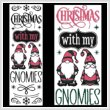 cross stitch pattern Christmas with my GNOMIES