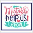 cross stitch pattern Mistakes Help Us Grow