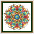 cross stitch pattern Mandala - Scarab