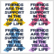 cross stitch pattern Friends Are The Support..Trials Of Life