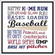 cross stitch pattern Subway Art - Sports - BASEBALL