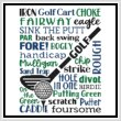 cross stitch pattern Subway Art - Sports - GOLF