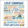 cross stitch pattern Love Camping - Colorful