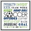 cross stitch pattern Subway Art - Sports - SOCCER