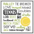 cross stitch pattern Subway Art - Sports - TENNIS