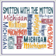 cross stitch pattern Smitten With The Mitten (Michigan)