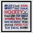 cross stitch pattern Subway Art - Sports - HOCKEY