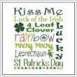 cross stitch pattern Subway Art - St. Patrick