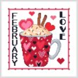 cross stitch pattern A Year Of Mugs - FEBRUARY