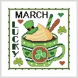 cross stitch pattern A Year Of Mugs - MARCH