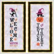 cross stitch pattern Halloween Welcome and Trick Or Treat