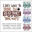 cross stitch pattern I Just Want To Drink READ BOOKS Nap