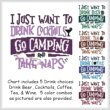 cross stitch pattern I Just Want To Drink GO CAMPING Nap