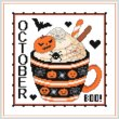 cross stitch pattern A Year Of Mugs - OCTOBER