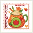 cross stitch pattern A Year of Mugs - NOVEMBER