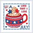 cross stitch pattern A Year of Mugs - JULY