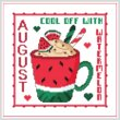 cross stitch pattern A Year Of Mugs - AUGUST