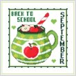cross stitch pattern A Year Of Mugs - SEPTEMBER