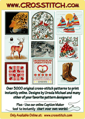 cross stitch pattern Snowman Carousel